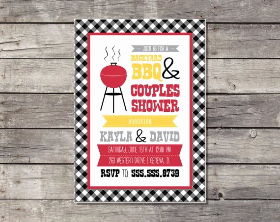 Couples Shower Invitations Template Luxury Items Similar to Couples Shower Barbecue Invitation