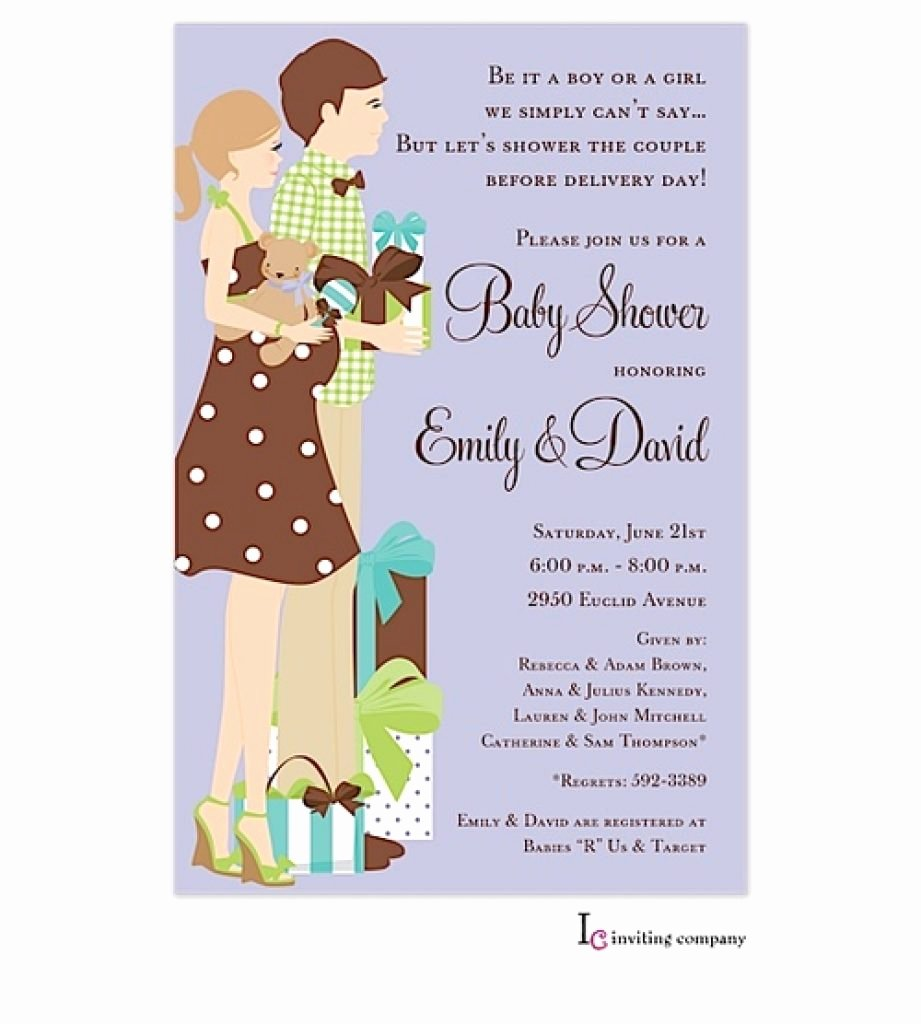 Couples Shower Invitations Template New Others Fun Ideas for Couples Baby with Coed Baby Shower