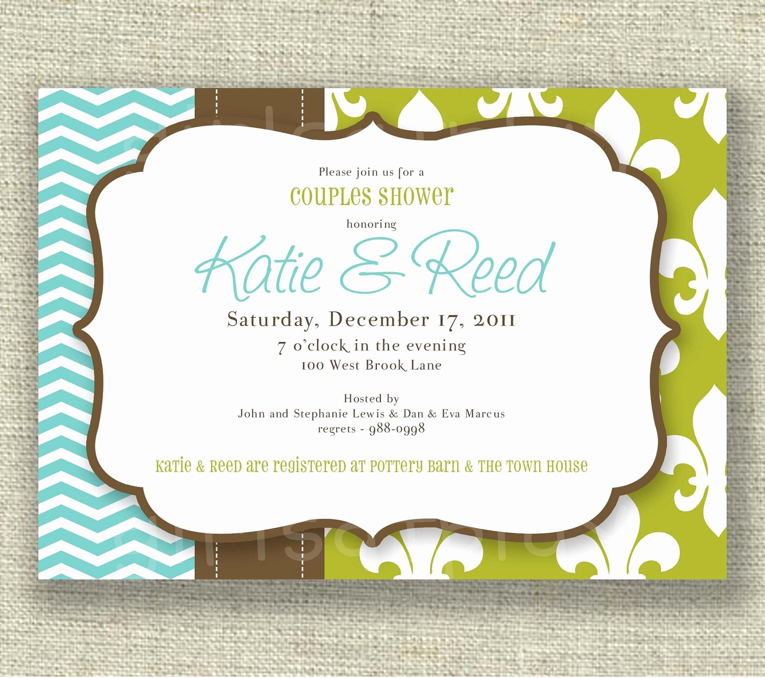 Couples Shower Invitations Template Unique Couples Wedding Shower Invitations Wording Yourweek