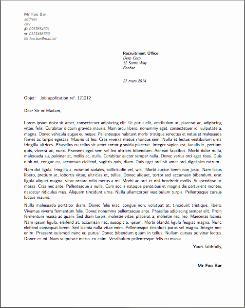 Cover Letter Latex Template Awesome French Cover Letter Latex Template