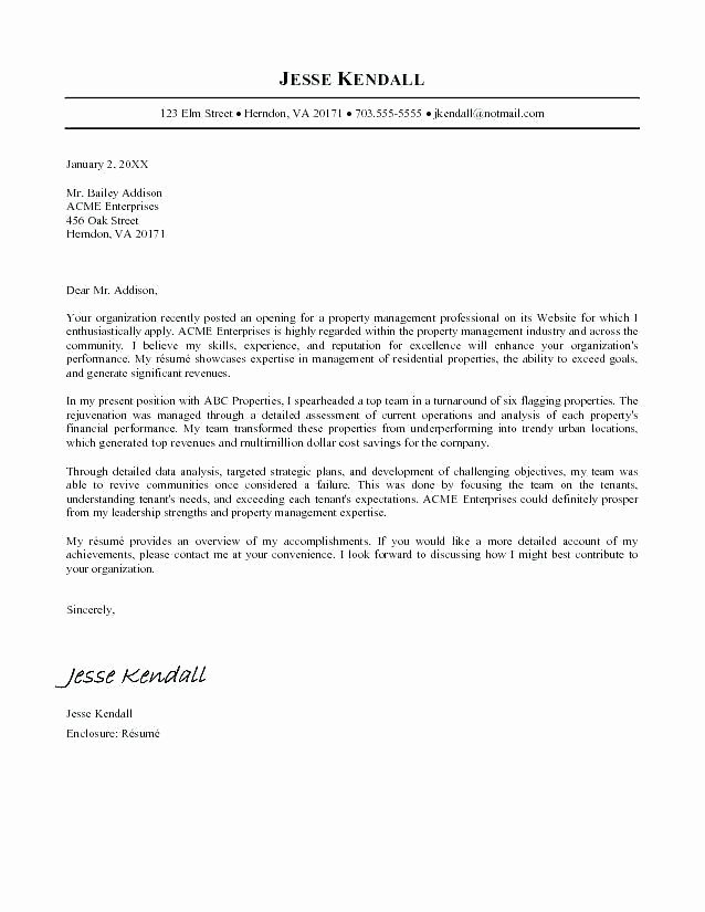 Cover Letter Latex Template Fresh Latex Cover Letter Template