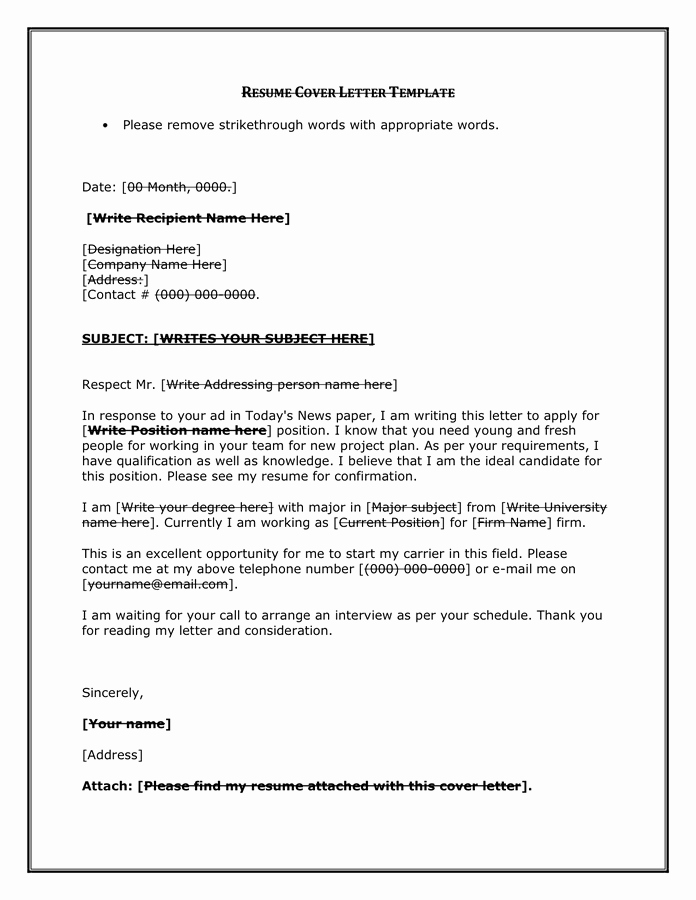 Cover Letter Template Doc Awesome Resume Cover Letter Examples Free Documents for