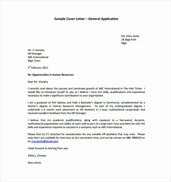 Cover Letter Template Doc Best Of 18 General Cover Letter Templates Pdf Doc