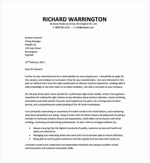 Cover Letter Template Doc Elegant 9 Job Cover Letter Templates – Free Sample Example