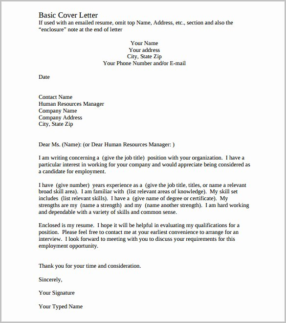 Cover Letter Template Doc Elegant Cover Letter Template – 20 Free Word Pdf Documents
