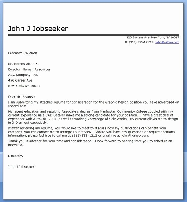 Cover Letter Template Pdf Awesome Graphic Design Cover Letter Sample Pdf
