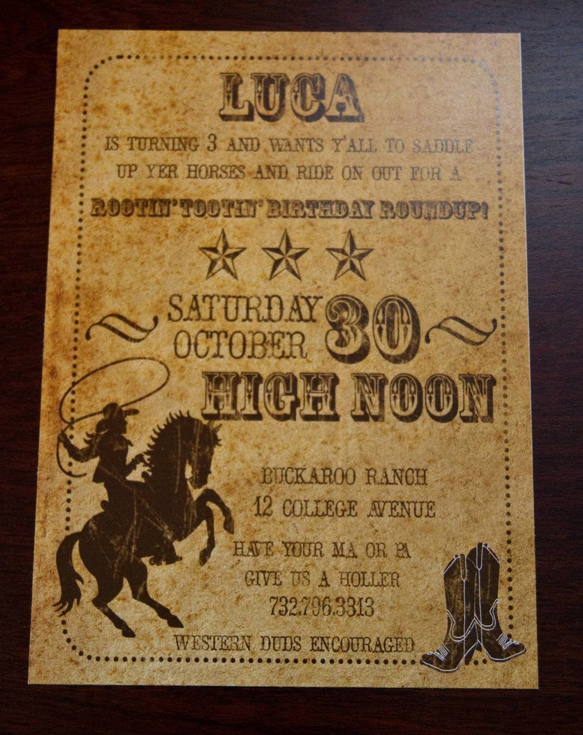 Cowboy Invitations Template Free Beautiful Western Party Invitations