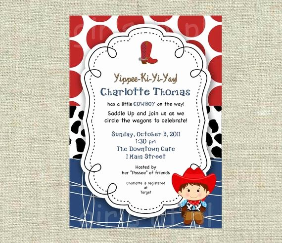 Cowboy Invitations Template Free Best Of Items Similar to Baby Shower Cowboy Cowgirl Boy Invitation