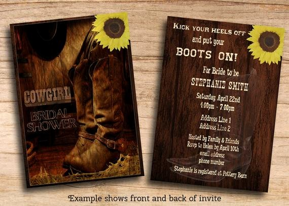 Cowboy Invitations Template Free Best Of Items Similar to Printable Rustic Country Western Cowgirl