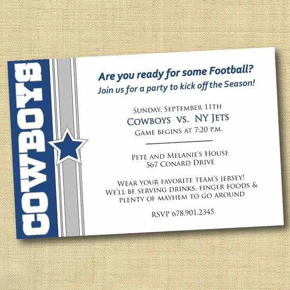Cowboy Invitations Template Free Elegant Items Similar to Dallas Cowboys Football Party Invitation