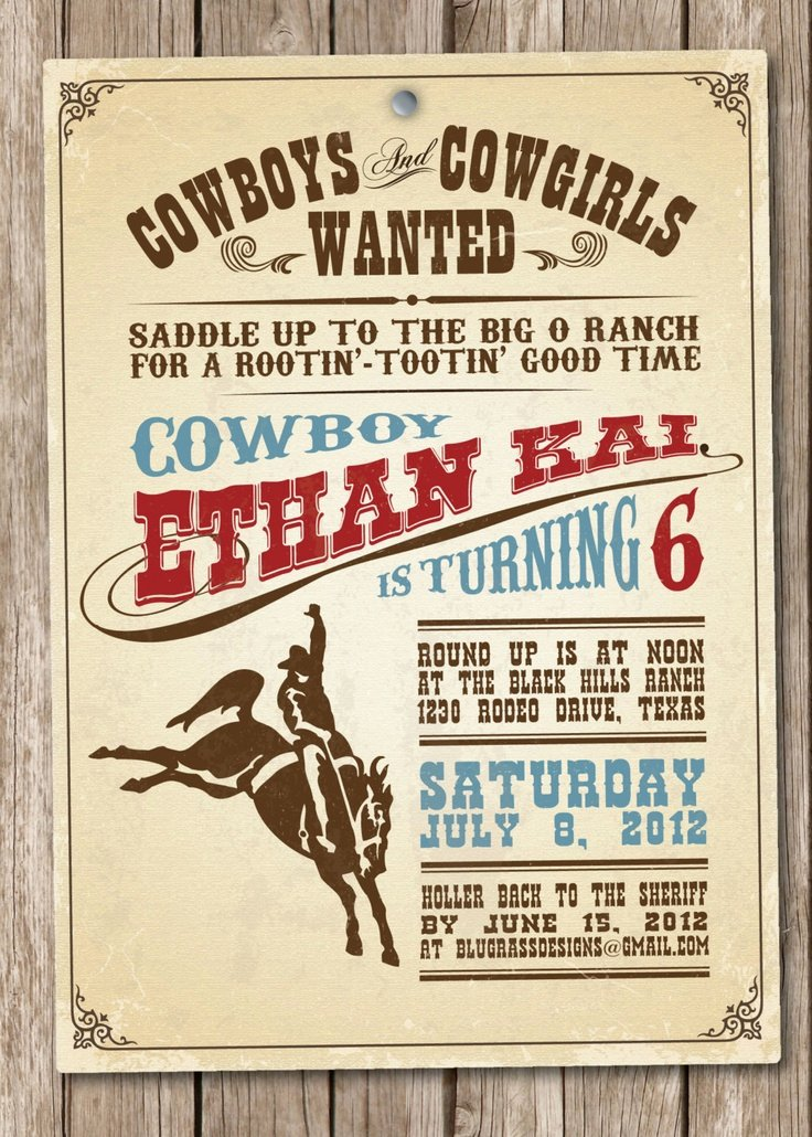 Cowboy Invitations Template Free Fresh Western theme Invitations Templates