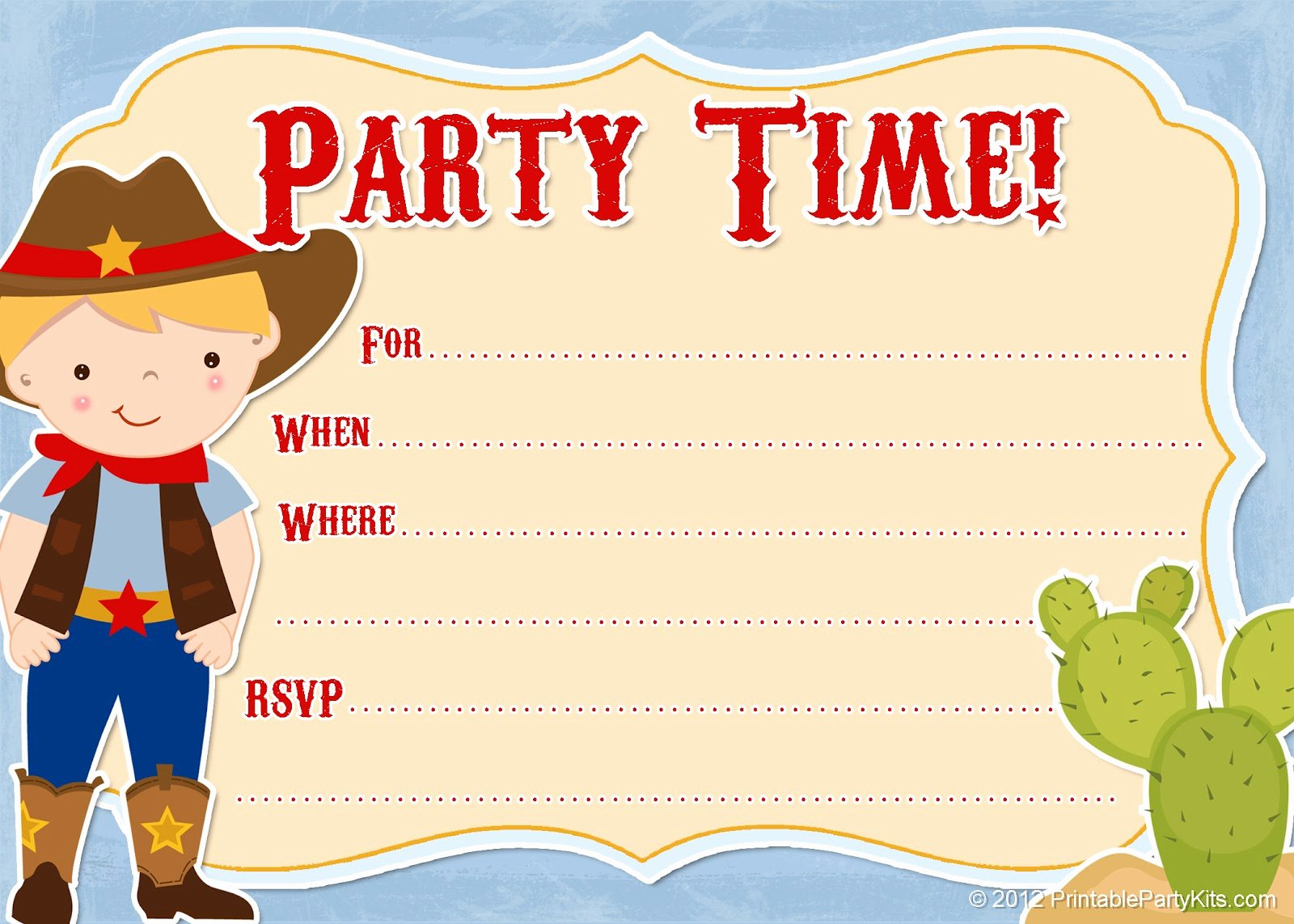 Cowboy Invitations Template Free Inspirational Free Printable Party Invitations Free Printable Cowboy