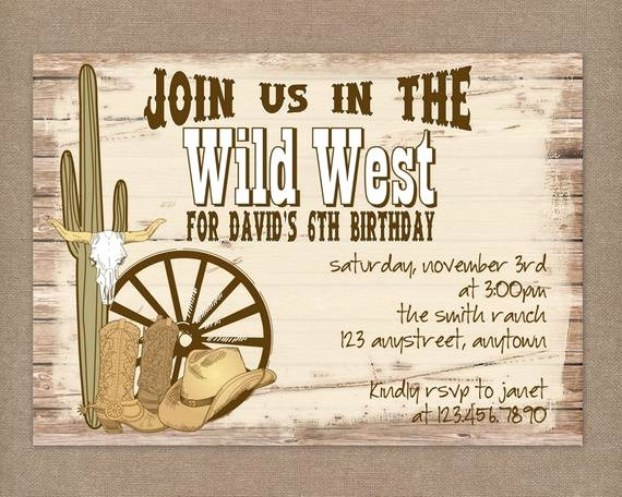 Cowboy Invitations Template Free Inspirational Unavailable Listing On Etsy