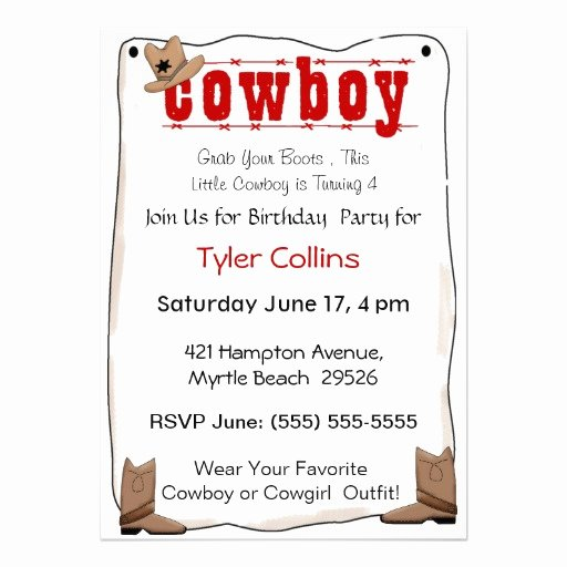 Cowboy Invitations Template Free Lovely Cowboy Invitation Template Invitation Template