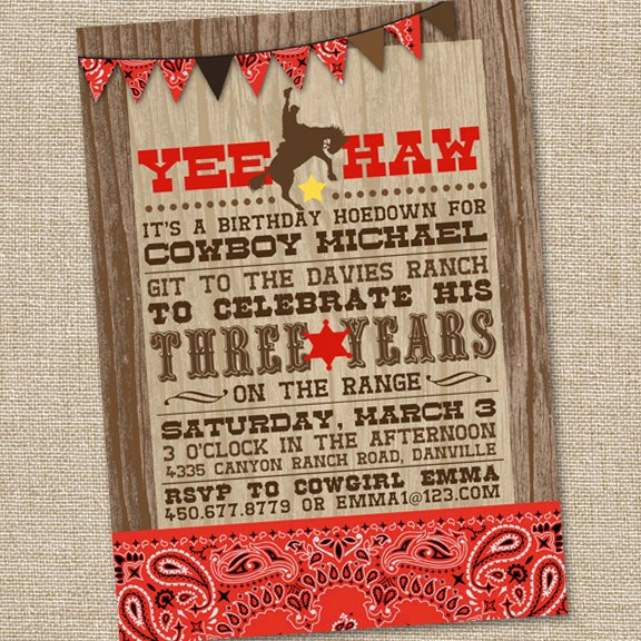 Cowboy Invitations Template Free New Yee Haw Western Cowboy Invitation Printable Cowboy
