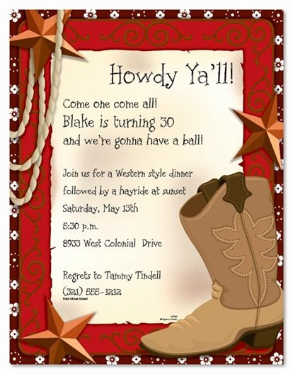 Cowboy Invitations Template Free Unique West Invites Clipart Clipground