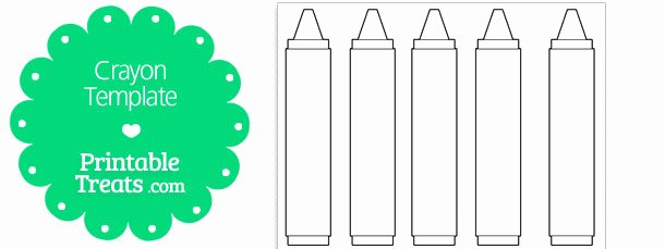 Crayola Crayon Label Template Awesome Free Printable Crayon Template — Printable Treats
