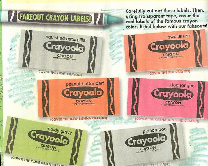 Crayola Crayon Label Template Beautiful Ans4 Wacky Packages All New Series 4