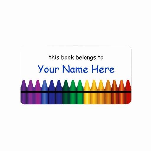 Crayola Crayon Label Template Beautiful Crayons Bookplate Template Label 2 Address Label