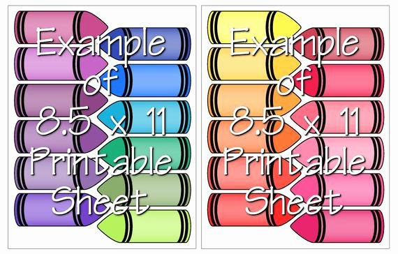 Crayola Crayon Label Template Inspirational Digital Clipart Colorful Crayon Labels Printable Crayola