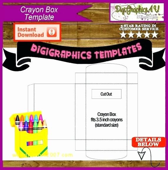 Crayola Crayon Label Template Unique Crayon Box Template Editable Crayon Box Favor Pig Digital