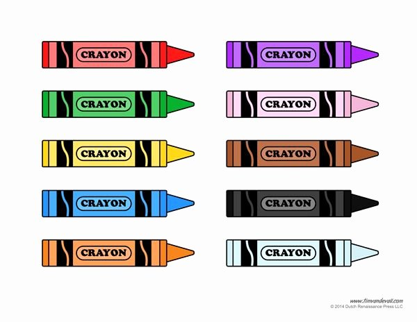 Crayola Crayon Label Template Unique Crayon Template Printable Colors