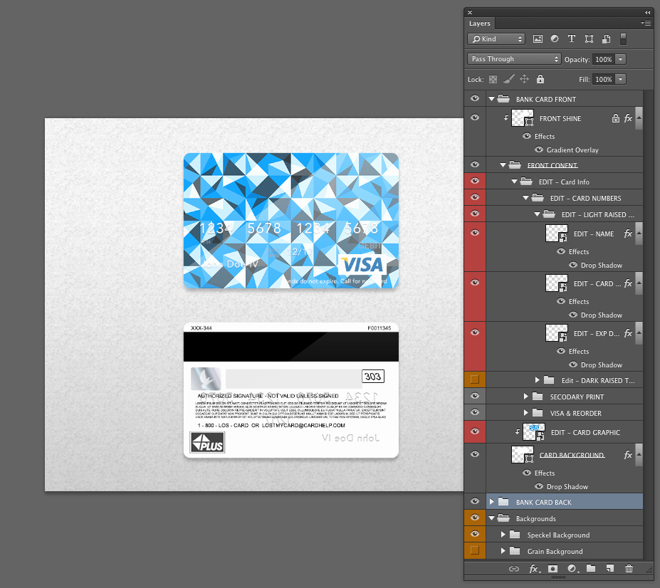 Credit Card Design Template Awesome Bank Card Credit Card Layout Psd Template• Front