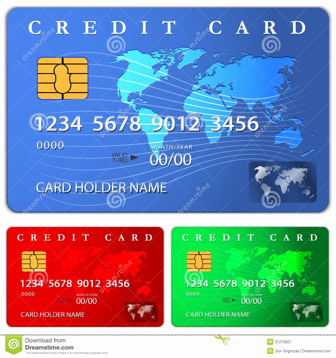 Credit Card Design Template Awesome Credit Debit Card Design Template Stock Vector Image
