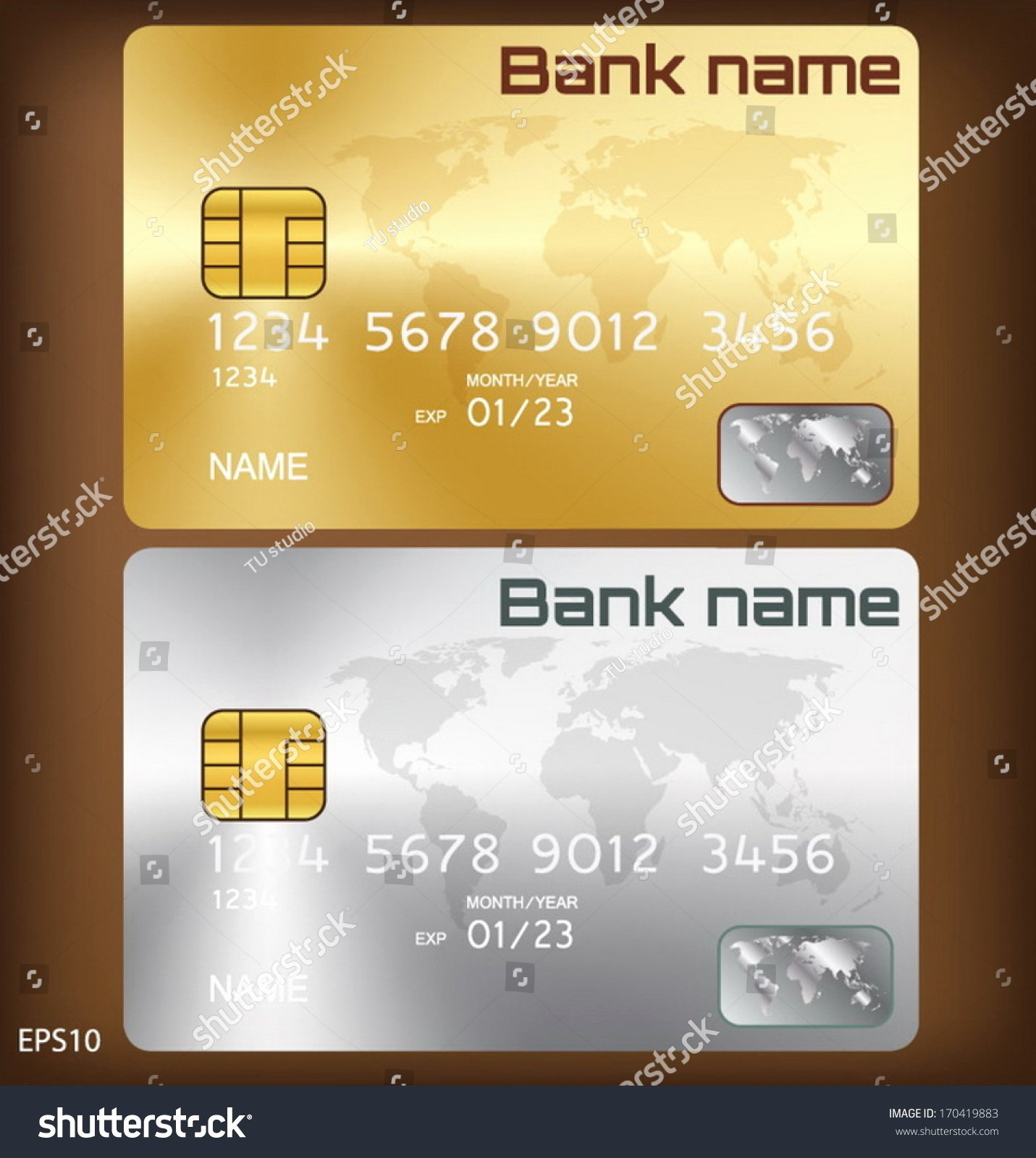 Credit Card Design Template Best Of Gold Silver Credit Card Smart Card Template Design