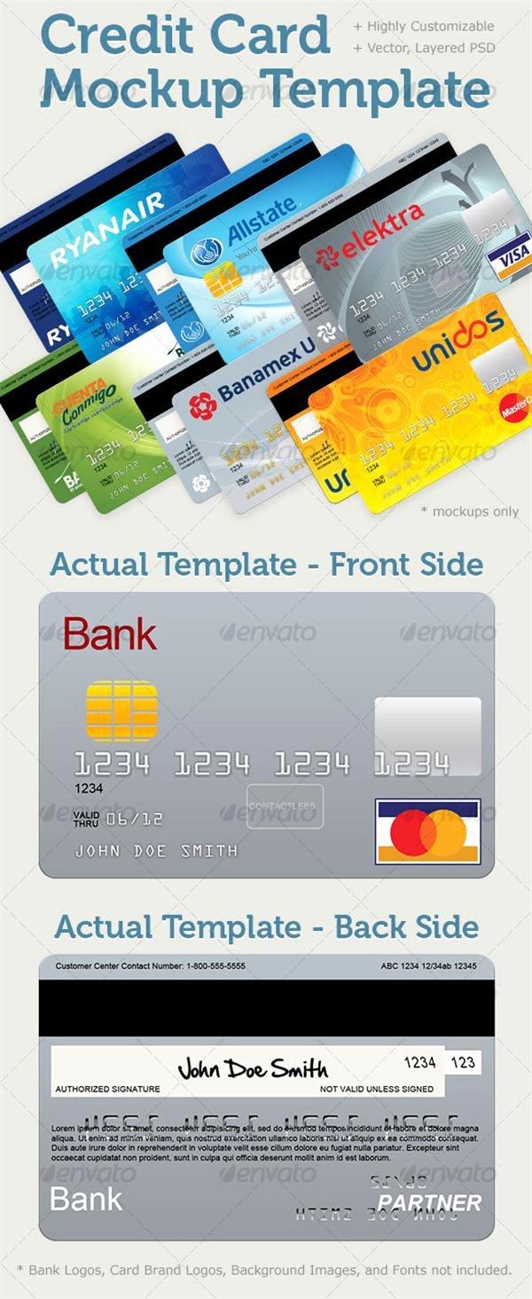 Credit Card Design Template Elegant 40 Free Credit Card Mockup Psd Templates Techclient