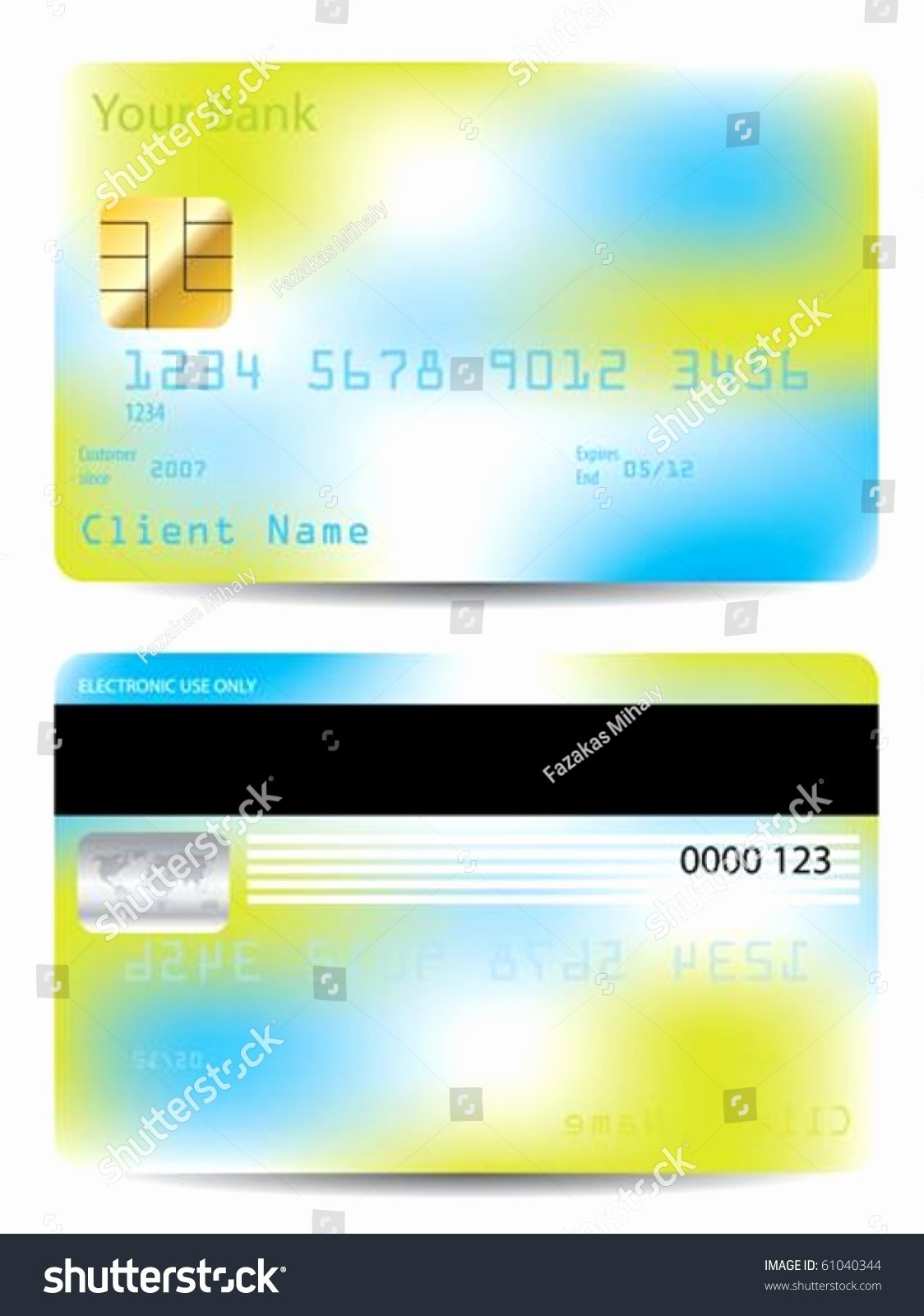 Credit Card Design Template Inspirational Colorful Credit Card Design Template Stock Vector