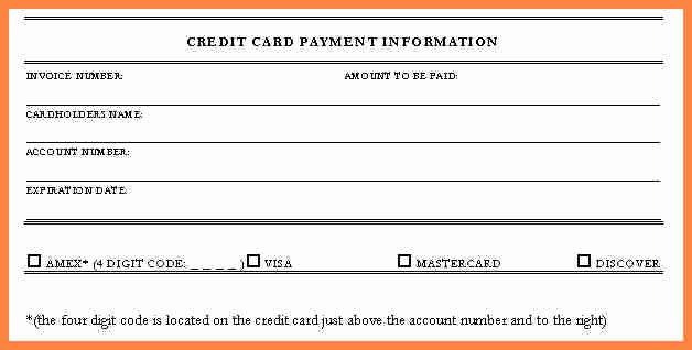 Credit Card form Template Awesome Invoice with Credit Card Payment Template Credit Card form