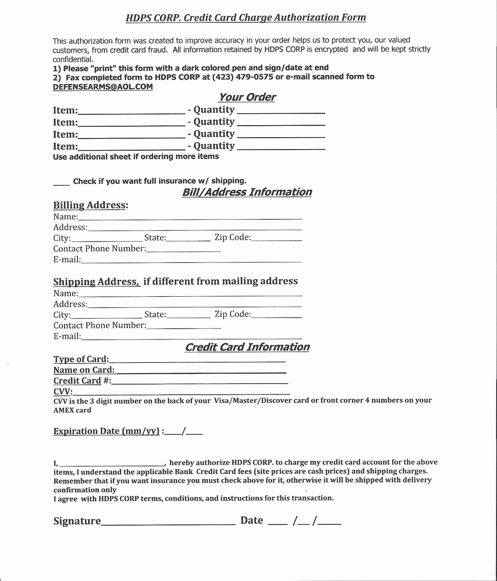 Credit Card form Template Inspirational Authorization form Template Example Mughals