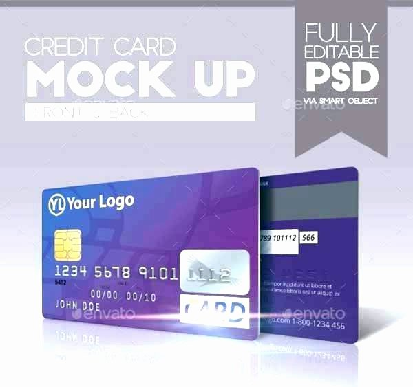 Credit Card Photoshop Template Fresh Credit Card Size Psd Template Design – Btcromaniafo