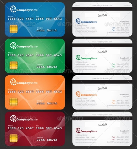 Credit Card Photoshop Template Luxury Credit Card Psd Template Free Download Faheem World