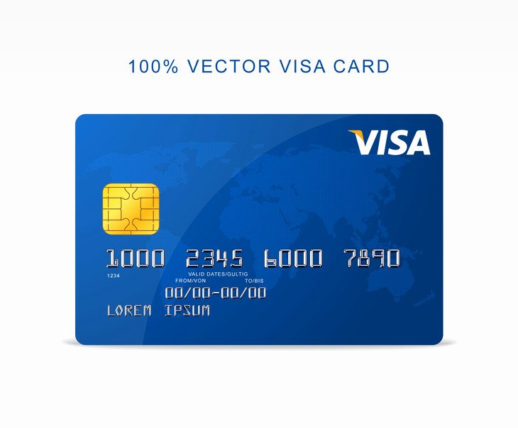 Credit Card Photoshop Template New Free Vector Visa Credit Card Graphberry