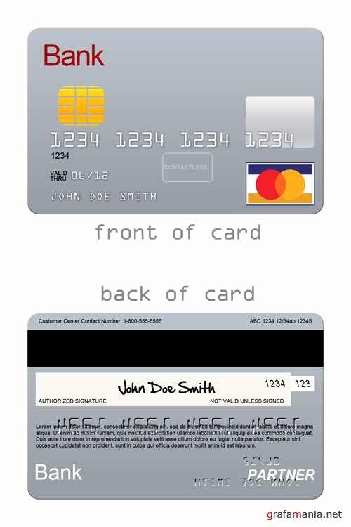 Credit Card Photoshop Template Unique Шаблон для Shop Кредитная карта Территория