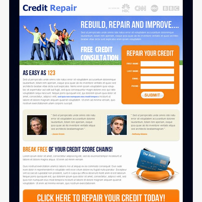 Credit Repair Flyer Template Luxury Free Credit Repair Templates Free Programs Utilities