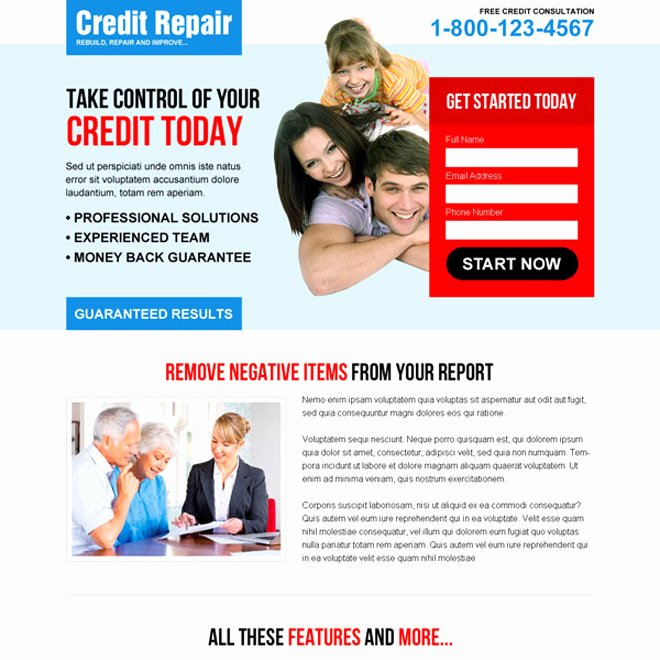 Credit Repair Flyer Template New Credit Repair Flyer