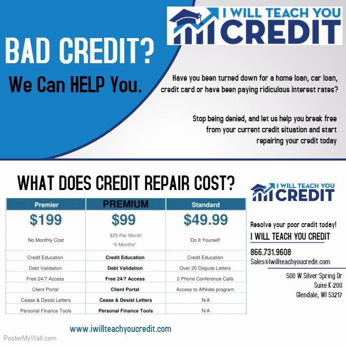 Credit Repair Flyer Template Unique Copy Of Business Flyer