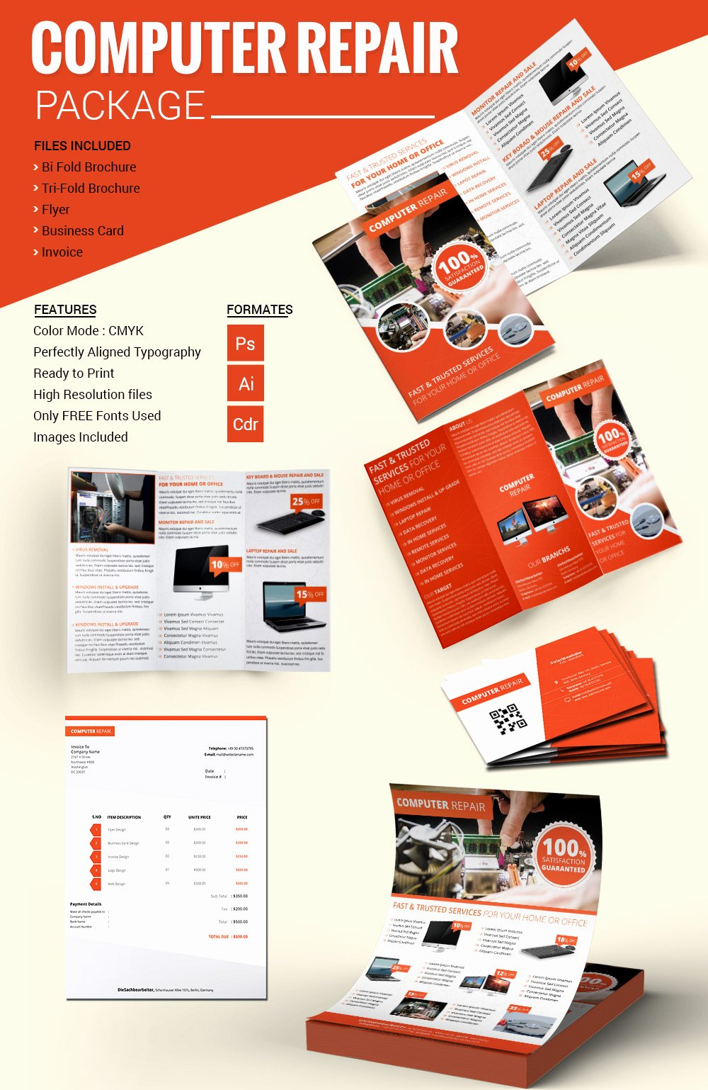 Credit Repair Flyer Template Unique Puter Repair Flyer Template – 21 Free Psd Ai format