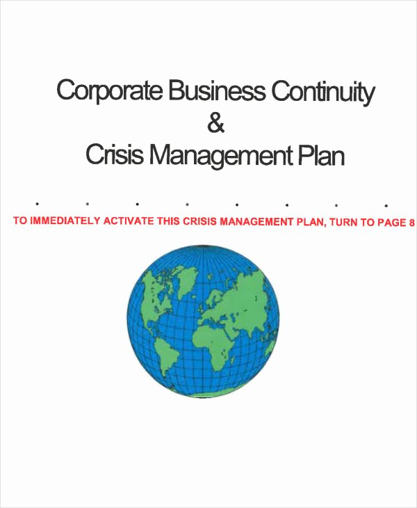 Crisis Management Plan Template Lovely 10 Crisis Management Plan Templates Sample Word Google