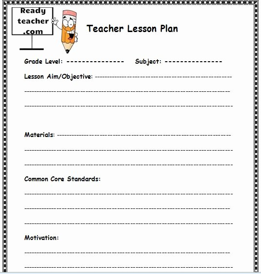 Curriculum Template for Teachers Best Of Lesson Plan İmages