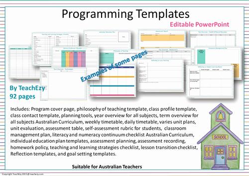 Curriculum Template for Teachers Elegant Australian Teachers Aitsl Standards Portfolio organiser