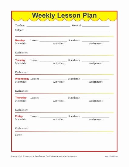 Curriculum Template for Teachers Inspirational Weekly Detailed Lesson Plan Template Elementary