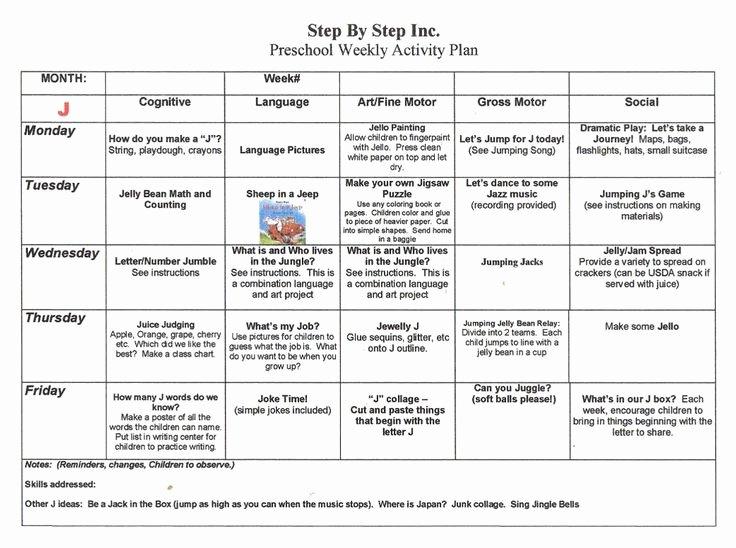 Curriculum Template for Teachers Lovely Emergent Curriculum Preschool Lesson Plan Template