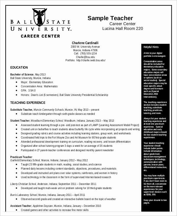 Curriculum Template for Teachers Luxury 10 Teaching Curriculum Vitae Templates Pdf Doc