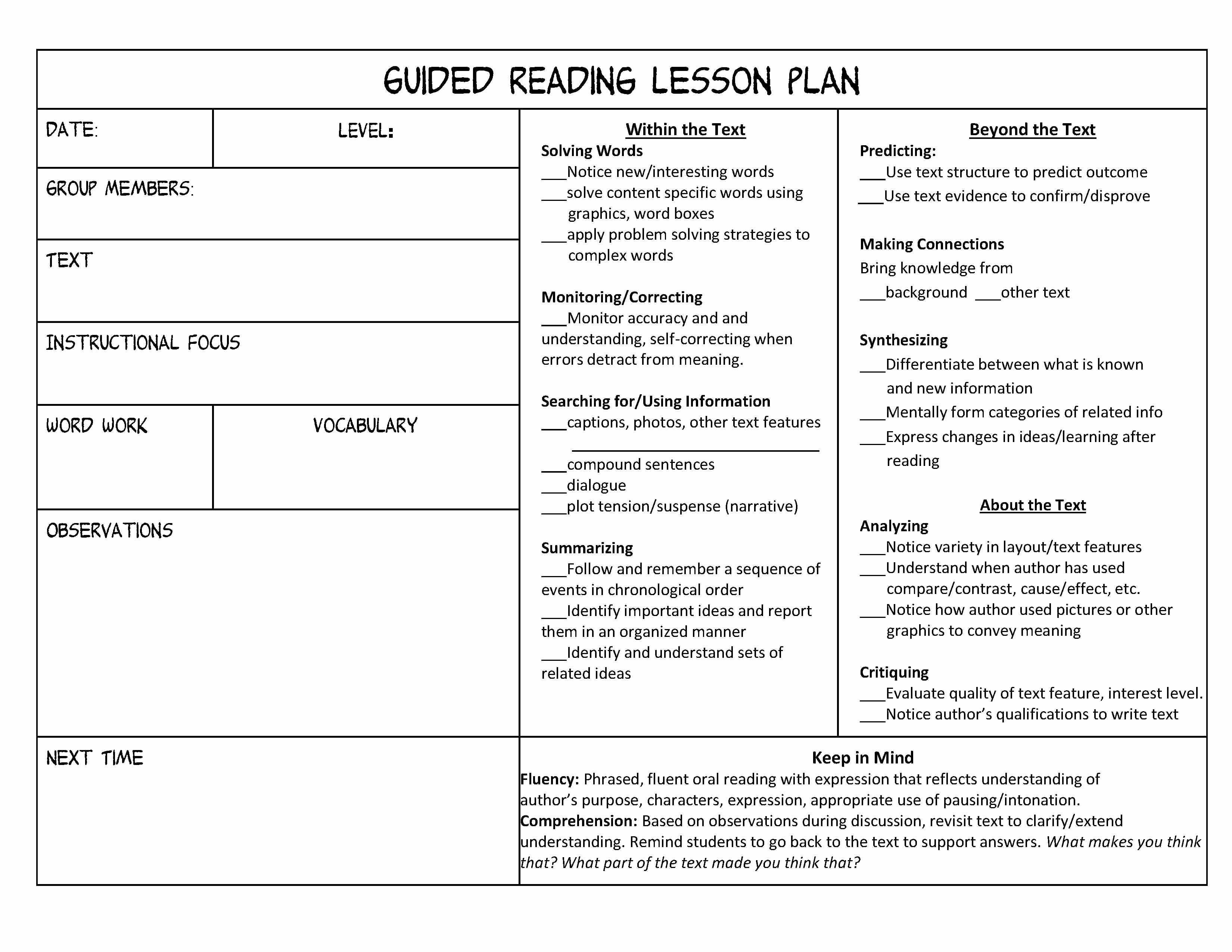 Curriculum Template for Teachers Luxury Guided Reading organization Made Easy