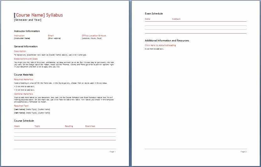 Curriculum Template for Teachers Luxury Teacher S Syllabus Plan Template