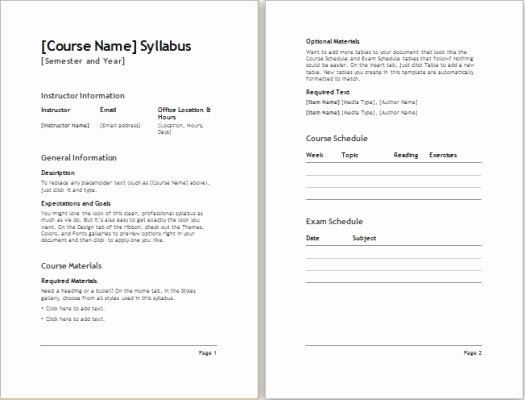 Curriculum Template for Teachers Unique top 25 Best Syllabus Template Ideas On Pinterest